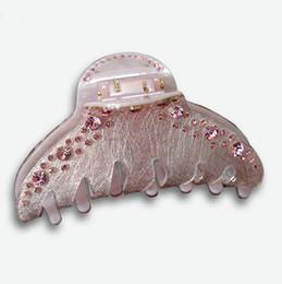 La mandíbula para el cabello en Línea-Pinza de pelo Accesorio austriaco Rhinestone Claw Clips de pelo Acrilico Longitud de la mandíbula Long Hair Clip Clamp Claw