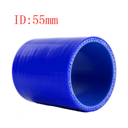 """Universal Samco 2.17"""" ID:55mm 3-Ply Straight Silicone Intercooler Turbo Air Intake Pipe Coupler Hose blue Intercooler silicone pipe"""