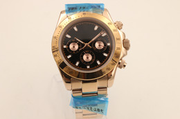 Wholesale Hot Sale Brand Auto Watch Men Gold Skeleton Black Dial Gold Band Day Tona Watch Hkpost