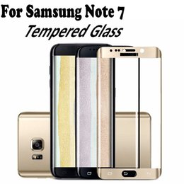 Wholesale 9H D Curved Full Cover Anti Shock For Samsung Note S7 Edge iPhone Front Film Screen Protective Flim with retail package