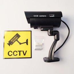 Promotion caméra pour la sécurité cctv Grande caméra de sécurité Wifi Fake caméra Dummy caméra emulational caméra Cctv Bullet étanche utilisation extérieure pour la sécurité à domicile avec Flash
