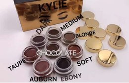 Wholesale Hot Kylie Jenner makeup Birthday Edition creme Shadow colors Dark Taupe Auburn Ebony Soft Blonde eye brown makeup eyeshadow free DHL