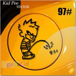 Wholesale xChild bad fuel tank cover personality reflective stickers fuel tank cover stickers car kid pee sticker