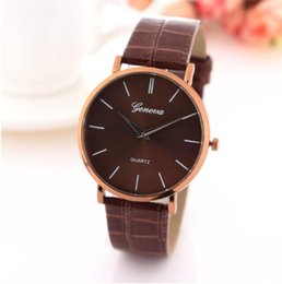 Wholesale Hot Model Chocolates Style Unisex Wristwatches Men Women Leather mm Simple Dial China Wristwatches Cheap and Top Quality