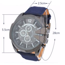 2017 la montre-bracelet pour hommes Montre Homme Sport Cowboy V6 montres pour hommes Quartz militaire Montre analogique en cuir Casual cadeau Fashion For Boyfriend