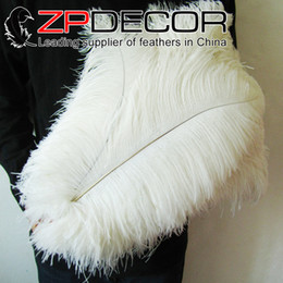 Wholesale China Trading Manufacturer ZPDECOR Factory cm inch inch Pretty Bleached White Ostrich Feather for wedding table decoration