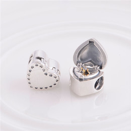 Fits Pandora Bracelet&Charms STERLING SILVER GIFT FROM THE HEART CHARM DIY Beads Solid 925 Silver Not Plated