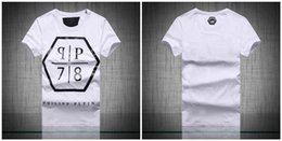 Wholesale Original German brand men s Short sleeve t shirt fashion crime design skull hip hop high quality print medusa PHILIPP PLEIN T shirt pp4