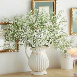 Wholesale 12pcs White Baby Breath Artificial Silk Flowers Gypsophila for Wedding Home Garden Decor Flower arranging Gift