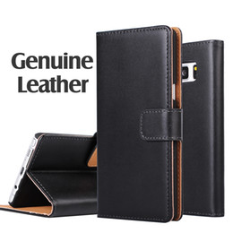 For Samsung S7 edge Real Genuine Leather Wallet Credit Card Holder Stand Case Cover For Galaxy J5 A5 S6