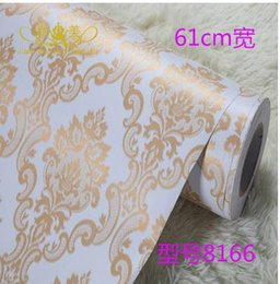 Wholesale Thickening Europe type PVC wallpaper adhesive wallpaper Make up membrane wallpaper The sitting room the bedroom waterproof pastoral
