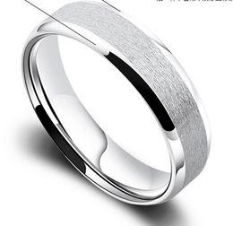 Wholesale 6MM Brushed Polished Finish Classic Men s Pure Titanium Ring Wedding Engagement Band New All Size gde7