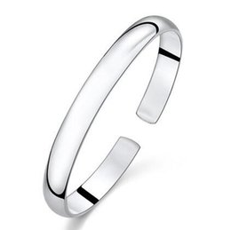 Silver Bracelet Bangle Jewelry Hot Sale Cuff Bracelets Bangles for Women Girl Wedding Party Wholesale Free shipping 0067WH