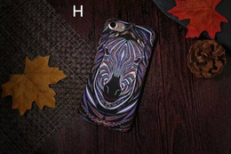 Brand Animals Lion Wolf Owl Pattern Hard Back Phone Cases For iPhone se 5s 6 6s Plus Glow In The Dark Luminous Forest King Case
