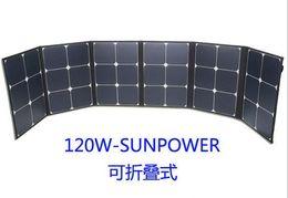 Wholesale 120W Foldable fabric Monocrystalline solar panel OEM ODM