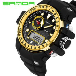 LED Sports Military Watches 2017 SANDA Fashion Digital Watch G Style Waterproof S-Shock Mens Electronic Watch relogio masculino