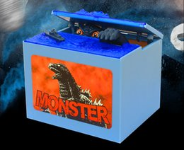 Wholesale 2016 New Global Product Godzilla Musical Sound LED Lights Monster Movie Electronic Money Box Piggy Bank Coin Bank