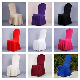 Wholesale chair covers cover for weddings Elastic Polyester Spandex white Chair Covers Universal Folding Hotel Meeting decorations accessories