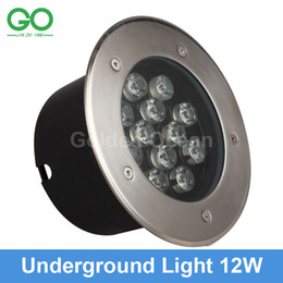 Wholesale 12W Led Underground Light V IP67 Waterproof Ground Led Buried Lamp Project Landscape Lights Engineering Light Outdoor Garden Step Light