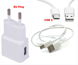 Wholesale 2A EU Plug Wall Cell Phone Charger Portable Travel Mobile Phone Charger Type C USB Data Cable For Huawei Honor ZTE Zmax Pro Meizu MX6