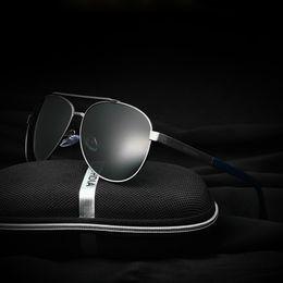 Wholesale VEITHDIA Brand Best Alloy Men s Sunglasses Polarized Lens Driving Fishing Eyewear Hawkers Sun Glasses For Men