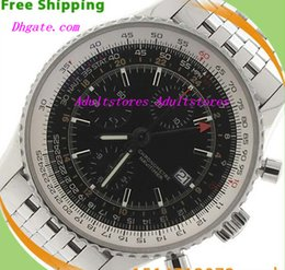 Wholesale Equipped Original Box Luxury Wristwatch Men s Brand BB N a Vitimer World Stainless Black Chronograph A24322 mm Watch Automatic Mens Men s