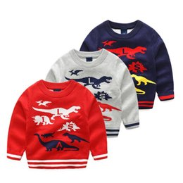 20 Colors INS Children Santa Claus Deer Cartoon Sweaters Boys Baby 2 Layer Thick Cotton Pullover Knitted Cardigan Tops Tees Kids Clothing