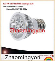 1pcs Super Bright 9W 12W 15W E27 GU10 E14 GU5.3 LED Bulbs Light 110V 220V Dimmable Led LAMP Warm Natural Cool White E27 LED light