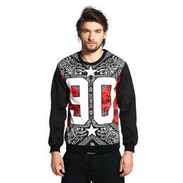 Wholesale Andy Hip hop hoodies flowers cashew national wind roses print sweatshirt for men D pullover size S M L XL