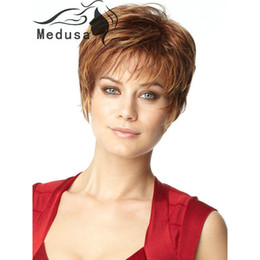 Sunny hair products: 2015 styles Short brown wig with bangs Natural straight haircuts Synthetic wigs for women