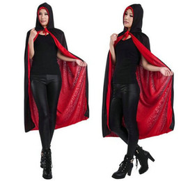 Wholesale Halloween Adult Costumes Cosplay Cape Uchiha Sasuke Cloak Akatsuki Clothes with Hat Naruto Witch Death Party Both Sides Can Be Worn