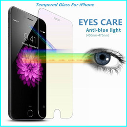 Wholesale Iphone Screen Protectors Blue Light Blocking Tempered Glass Protective Film Anti Glare Eye Protect Ray Filter Guard For Iphone6 s Plus