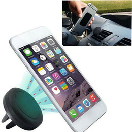 Wholesale Magnets Bracket Magnetic Brackets Universal Car Air Vent Holder Outlet Mount For iPhone Samsung Mobile Phone Holders With retail box