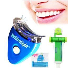 Wholesale Dental Tooth Teeth Cleaner Whiten Whitening Whitener System Whitelight Kit Set With OPP Package DHL FREE