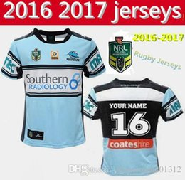 Wholesale Best Thai quality New Cronulla Sharks rugby jerseys Zealand men best Australia league rugby shirts SIZE S XL