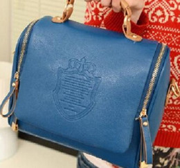 Wholesale 2016 new autumn fashion preppy style stamp one shoulder bags women leather handbags women messenger bags women handbag
