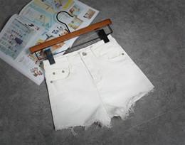 2016 New White wanita Casual Fashion short jeans alta Tassel Denim High Waisted Black Shorts