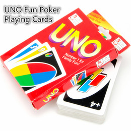 Wholesale Family Funny Entertainment Board Game UNO Fun Poker Playing Cards Puzzle Games Standard uno card B0344