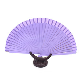 Wholesale Blank Spanish Fans Fabric Paper Foldng Hand Dancing Wedding Party Decor Fan Bridal Fan Performance Hand Accessories