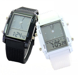 Wholesale Watches Fashion Cool Flash LED Digital Watch Sports Silicone Led Electronic Binary Watch LW010