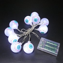 Wholesale Halloween Decoration Fancy Eye Balls String Lattern Lights LED Eyeball Colorful Strand Lamp Colorful LED Light
