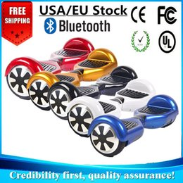 USA EU Stock Hover Board LED Scooters Smart Balancing Wheel Bluetooth Music Speaker Electric Skateboard Two Wheel 6.5 inch Drop Shipping