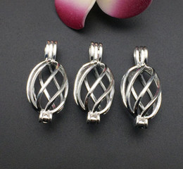The essential oil diffuser provides silver-plated, spiral cage, pearl cage pendant 10pc - plus your own pearl, stone makes it more attractiv