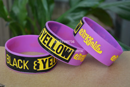 25pcs lot WIZ KHALIFA Silicone Rubber Filled in Colour Wristband Bracelet