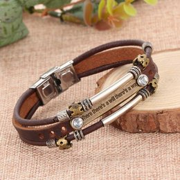 New Arrival Vintage Handmade Retro Leather Men Bracelets Fashion Decoration Zodiac Men's Alloy Woven Bracelet Bohemia Style Male Bangle