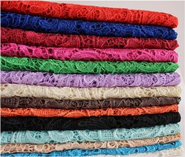 2016 Cheap Free Shipping Tops High Quality Mix 11 Color Water Soluble 3D African Lace Venice Lace Dress Fabrics HY1182