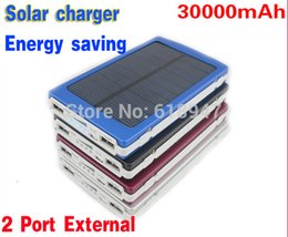 Wholesale Mobile power bank supply mAH Energy saving Solar Charger Port External Battery Pack Power Bank For Cellphone iPhone Portable