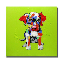 Wholesale Canvas Art Pictures Dog Oil Painting for Bedroom Decoration Hand Painted Oil Painting Home Decor Best Quality No Framed