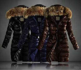 2017 manteau d'hiver col de fourrure véritable 2017 Nouveau Femmes Veste d'hiver Manteaux longs épais Parkas Plus Size réel Collar Raccoon Fur Hooded Outwear