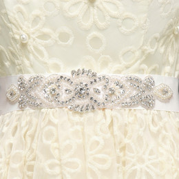 Babyonline Hand Made Beaded Crystals Bridal Sashes Free Shipping Bridal Belts For Bridal Wedding Gowns Occasion Dresses CPA785